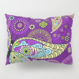 Colorful Butterflies and Flowers V5 Pillow Sham