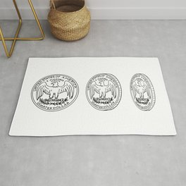 United States Quarter Dollar Reverse Drawing Rug
