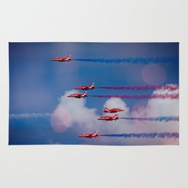 Red Arrows In The Sky Rug