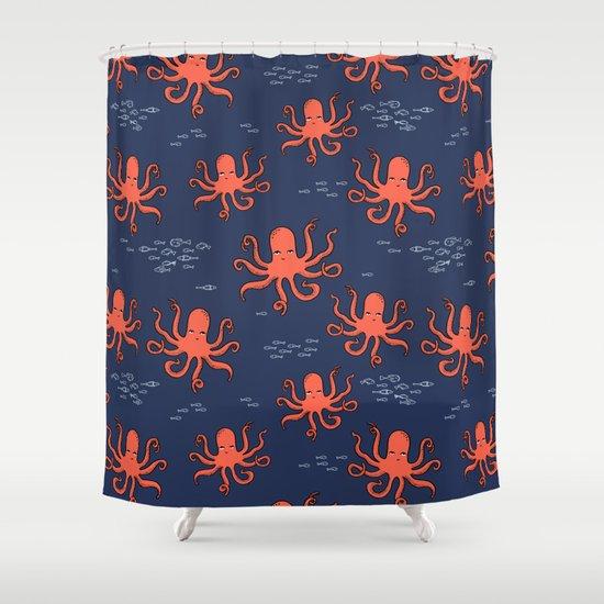 Octopus by Andrea Lauren Shower Curtain