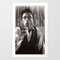johnny cash Art Prints featuring Johnny Cash by Denis O'Sullivan