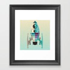 Rocket X Framed Art Print