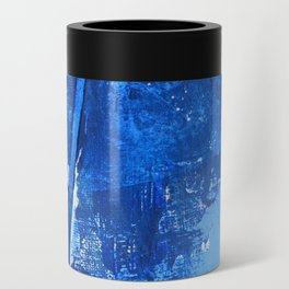 Aerial: a pretty, minimal abstract mixed-media piece in blues by Alyssa Hamilton Art Can Cooler