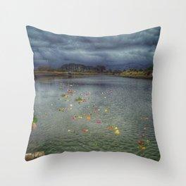 River of Flowers - Christchurch Earthquake Throw Pillow