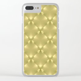 Bright Gold Studded Quilt Repeat Pattern Clear iPhone Case