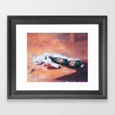 I would have move mountains for you so go hell I'm just a painting of a lol cat Framed Art Print