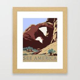 See America National Park Poster Framed Art Print