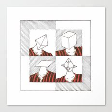 Ability to make your head any geometric shape Canvas Print