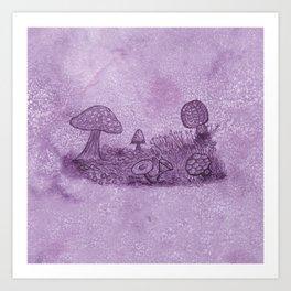 Fungi Meadow Art Print