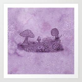 Fungi Meadow Art Print