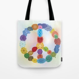 Peace Sign In Colors Tote Bag