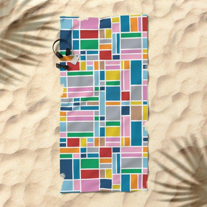 Stained Glass W Beach Towel
