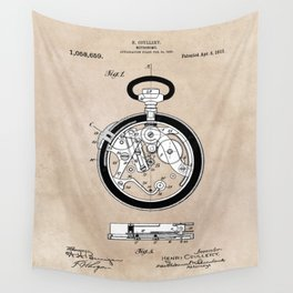 patent Coullery Metronome 1908 Wall Tapestry