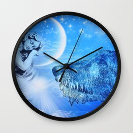 Irish Wolfhound Guardian Wall Clock