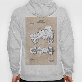 patent art Plimpton Roller Skate 1907 Hoody