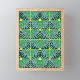 Crystal Leaves Green Framed Mini Art Print