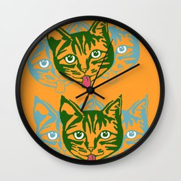 Mollycat Orange Wall Clock