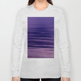 Movement of Water on a Calm Evening- Violet Abstraction Long Sleeve T-shirt