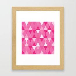 Harlequin Print Pinks Framed Art Print