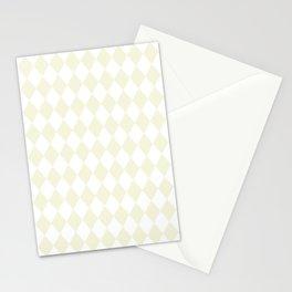 Diamonds (Beige/White) Stationery Cards