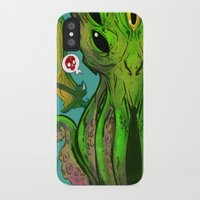 cthulu iPhone & iPod Cases featuring Cthulhu by Tyler Lederer