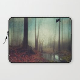 Across the Water - Moody Autumn Forest Laptop Sleeve