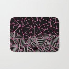 Ab Half an Half Black and Pink Bath Mat