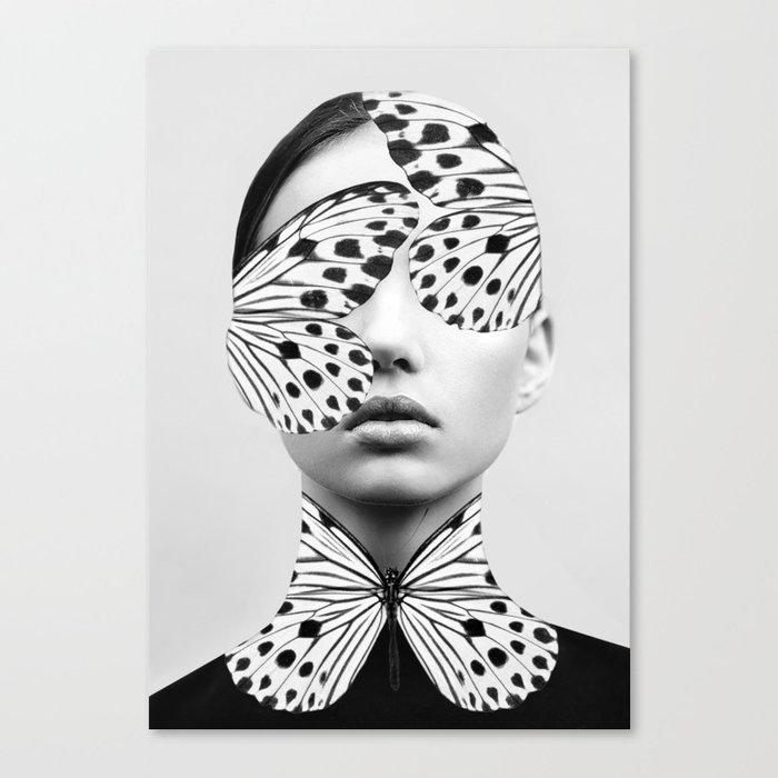 Woman Butterfly Leinwanddruck