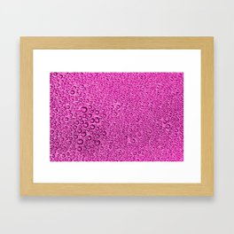 Water Condensation 05 Purple Framed Art Print
