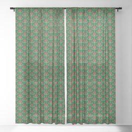 Spring Roses Pattern Sheer Curtain