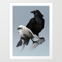 The Dark Side of the Flock Art Print