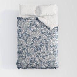 William Morris Navy Blue Botanical Pattern 5 Comforters