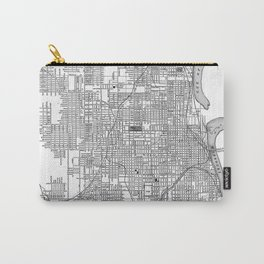 Vintage Map of Omaha Nebraska (1901) BW Carry-All Pouch