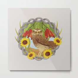 cashew and owl Metal Print