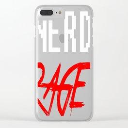 Nerd-Rage Clear iPhone Case