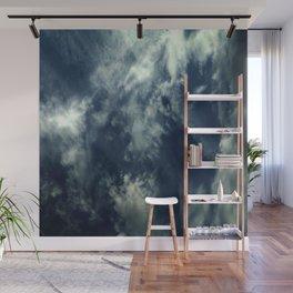 Cloud and sky 10 -cloud, sky, blue, positive,optimism Wall Mural