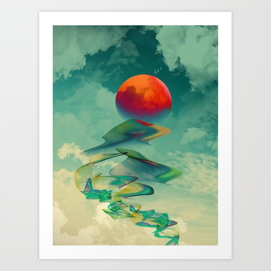Reach the Sun! Art Print