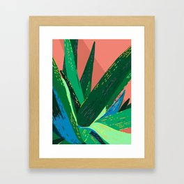 I Don't Bite (Much) - Tropical Cactus Succulent Illustration Framed Art Print