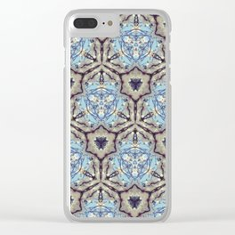 Crystallize (Blue) Clear iPhone Case