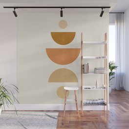 Abstraction_Geometric_Shape_Moon_Sun_Minimalism_001D Wall Mural