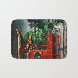 In the rain-Asakusa Sensouji temple Bath Mat
