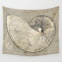 seashell Wall Tapestries featuring SEASHELL by Mary Szulc