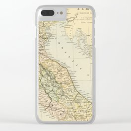 Retro & Vintage Map of Northern Italy Clear iPhone Case