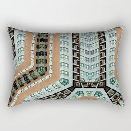Graphic design futuristic residential Rectangular Pillow