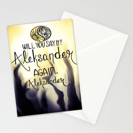 Will you say it? Stationery Cards