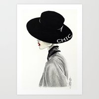 chic Art Prints featuring Chic by Tania Santos