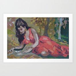 Gipsy Card Reader by Lika Ramati Art Print