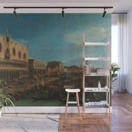 Venice, Italy - The Pier Towards Riva degli Schiavoni by Canaletto Wall Mural