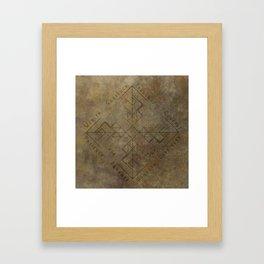 Binding Rune - Joy of Fortunes Framed Art Print