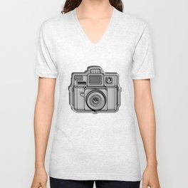 I Still Shoot Film Holga Logo - Black Unisex V-Neck